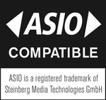 Compatible With ASIO – ASIO is a registered trademark of Steinberg Media Technologies GmbH.